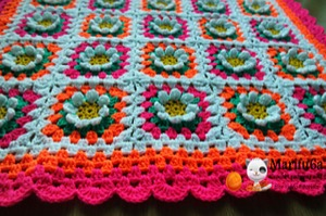 crochet baby flower blanket