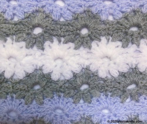 Petal Stitch Baby Blanketの模様アップ