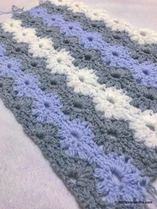 Petal Stitch Baby Blanket編んでみた感想
